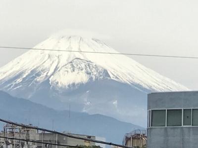 三島駅からの富士山